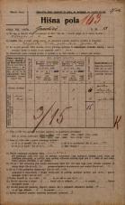 Popis prebivalstva 20. 12. 1921<br />Ljubljana<br />Gradišče 13<br />Population census 20 December 1921