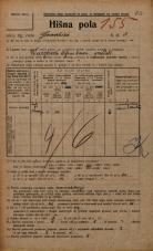 Popis prebivalstva 20. 12. 1921<br />Ljubljana<br />Gradišče 3<br />Population census 20 December 1921