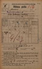 Popis prebivalstva 20. 12. 1921<br />Ljubljana<br />Gradišče 4<br />Population census 20 December 1921
