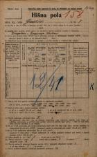 Popis prebivalstva 20. 12. 1921<br />Ljubljana<br />Gradišče 7<br />Population census 20 December 1921