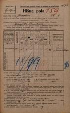 Popis prebivalstva 20. 12. 1921<br />Ljubljana<br />Gradišče 8<br />Population census 20 December 1921