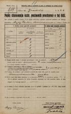 Popis prebivalstva 20. 12. 1921<br />Ljubljana<br />Gradišče 8b<br />Population census 20 December 1921