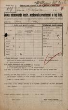 Popis prebivalstva 20. 12. 1921<br />Ljubljana<br />Gradišče NN1<br />Population census 20 December 1921