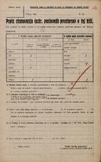 Popis prebivalstva 20. 12. 1921<br />Ljubljana<br />Gradišče NN4<br />Population census 20 December 1921