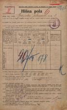 Popis prebivalstva 20. 12. 1921<br />Ljubljana<br />Grajska planota 1<br />Population census 20 December 1921