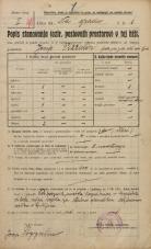 Popis prebivalstva 20. 12. 1921<br />Ljubljana<br />Grajska planota - Na gradu 1<br />Population census 20 December 1921