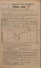 Popis prebivalstva 20. 12. 1921<br />Ljubljana<br />Grubarjevo nabrežje 14<br />Population census 20 December 1921