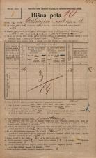 Popis prebivalstva 20. 12. 1921<br />Ljubljana<br />Grubarjevo nabrežje 16<br />Population census 20 December 1921