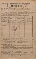 Popis prebivalstva 20. 12. 1921<br />Ljubljana<br />Grubarjevo nabrežje 18<br />Population census 20 December 1921