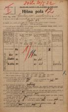 Popis prebivalstva 20. 12. 1921<br />Ljubljana<br />Grubarjevo nabrežje 22<br />Population census 20 December 1921