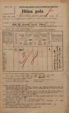 Popis prebivalstva 20. 12. 1921<br />Ljubljana<br />Grubarjevo nabrežje 6<br />Population census 20 December 1921