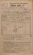 Popis prebivalstva 20. 12. 1921<br />Ljubljana<br />Grubarjevo nabrežje 8<br />Population census 20 December 1921