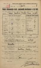 Popis prebivalstva 20. 12. 1921<br />Ljubljana<br />Grubarjevo nabrežje - Prule 8<br />Population census 20 December 1921