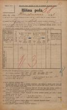 Popis prebivalstva 20. 12. 1921<br />Ljubljana<br />Hauptmanca 1<br />Population census 20 December 1921