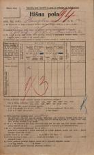 Popis prebivalstva 20. 12. 1921<br />Ljubljana<br />Hauptmanca 12<br />Population census 20 December 1921