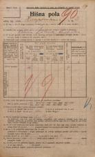 Popis prebivalstva 20. 12. 1921<br />Ljubljana<br />Hauptmanca 3<br />Population census 20 December 1921