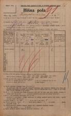 Popis prebivalstva 20. 12. 1921<br />Ljubljana<br />Hauptmanca 4<br />Population census 20 December 1921