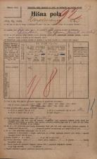 Popis prebivalstva 20. 12. 1921<br />Ljubljana<br />Hauptmanca 5<br />Population census 20 December 1921