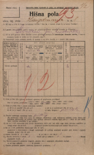 Popis prebivalstva 20. 12. 1921<br />Ljubljana<br />Hauptmanca 8<br />Population census 20 December 1921