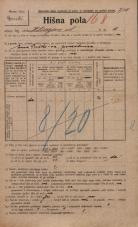 Popis prebivalstva 20. 12. 1921<br />Ljubljana<br />Hilsarjeva ulica 10<br />Population census 20 December 1921