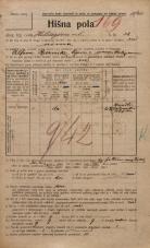 Popis prebivalstva 20. 12. 1921<br />Ljubljana<br />Hilsarjeva ulica 12<br />Population census 20 December 1921