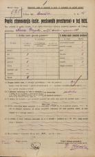 Popis prebivalstva 20. 12. 1921<br />Ljubljana<br />Hilsarjeva ulica - Gradišče 15<br />Population census 20 December 1921