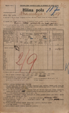 Popis prebivalstva 20. 12. 1921<br />Ljubljana<br />Hradeckega vas 37<br />Population census 20 December 1921