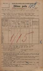 Popis prebivalstva 20. 12. 1921<br />Ljubljana<br />Hradeckega vas 38<br />Population census 20 December 1921