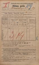 Popis prebivalstva 20. 12. 1921<br />Ljubljana<br />Hradeckega vas 39<br />Population census 20 December 1921