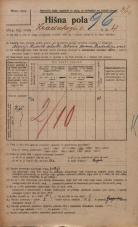 Popis prebivalstva 20. 12. 1921<br />Ljubljana<br />Hradeckega vas 4<br />Population census 20 December 1921