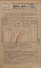 Popis prebivalstva 20. 12. 1921<br />Ljubljana<br />Hradeckega vas 40<br />Population census 20 December 1921