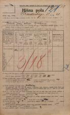 Popis prebivalstva 20. 12. 1921<br />Ljubljana<br />Hradeckega vas 41<br />Population census 20 December 1921