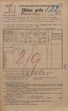 Popis prebivalstva 20. 12. 1921<br />Ljubljana<br />Hradeckega vas 42<br />Population census 20 December 1921