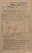 Popis prebivalstva 20. 12. 1921<br />Ljubljana<br />Hradeckega vas 44<br />Population census 20 December 1921