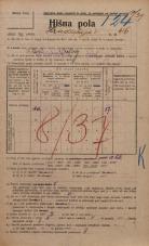 Popis prebivalstva 20. 12. 1921<br />Ljubljana<br />Hradeckega vas 46<br />Population census 20 December 1921