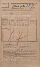 Popis prebivalstva 20. 12. 1921<br />Ljubljana<br />Hradeckega vas 50<br />Population census 20 December 1921