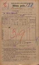 Popis prebivalstva 20. 12. 1921<br />Ljubljana<br />Hradeckega vas 52<br />Population census 20 December 1921