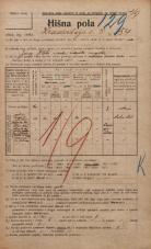 Popis prebivalstva 20. 12. 1921<br />Ljubljana<br />Hradeckega vas 54<br />Population census 20 December 1921