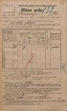 Popis prebivalstva 20. 12. 1921<br />Ljubljana<br />Hradeckega vas 66<br />Population census 20 December 1921