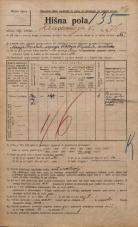 Popis prebivalstva 20. 12. 1921<br />Ljubljana<br />Hradeckega vas 76<br />Population census 20 December 1921