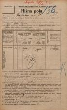 Popis prebivalstva 20. 12. 1921<br />Ljubljana<br />Hradeckega vas 78<br />Population census 20 December 1921