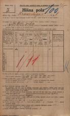 Popis prebivalstva 20. 12. 1921<br />Ljubljana<br />Hradeckega vas 8<br />Population census 20 December 1921