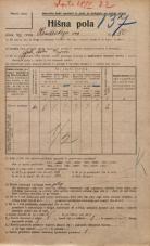 Popis prebivalstva 20. 12. 1921<br />Ljubljana<br />Hradeckega vas 80<br />Population census 20 December 1921