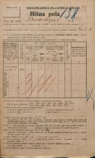 Popis prebivalstva 20. 12. 1921<br />Ljubljana<br />Hradeckega vas 82<br />Population census 20 December 1921