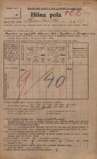 Popis prebivalstva 20. 12. 1921<br />Ljubljana<br />Hranilniška cesta 12<br />Population census 20 December 1921