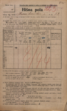 Popis prebivalstva 20. 12. 1921<br />Ljubljana<br />Hranilniška cesta 13<br />Population census 20 December 1921