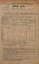 Popis prebivalstva 20. 12. 1921<br />Ljubljana<br />Hranilniška cesta 2<br />Population census 20 December 1921