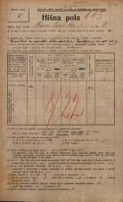 Popis prebivalstva 20. 12. 1921<br />Ljubljana<br />Hranilniška cesta 4<br />Population census 20 December 1921
