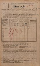 Popis prebivalstva 20. 12. 1921<br />Ljubljana<br />Hranilniška cesta 6<br />Population census 20 December 1921