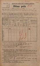 Popis prebivalstva 20. 12. 1921<br />Ljubljana<br />Hranilniška cesta 8<br />Population census 20 December 1921